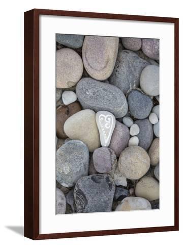 Painted Stone, Heart-Andrea Haase-Framed Art Print