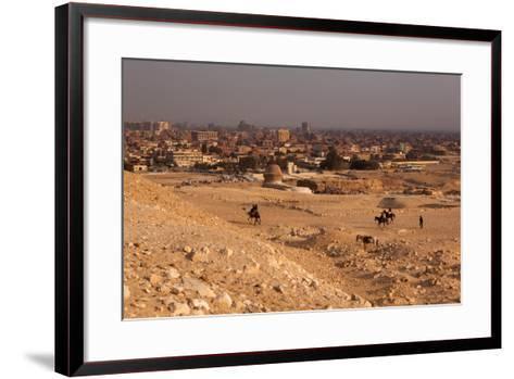 Egypt, Cairo, Giza, Evening Light-Catharina Lux-Framed Art Print