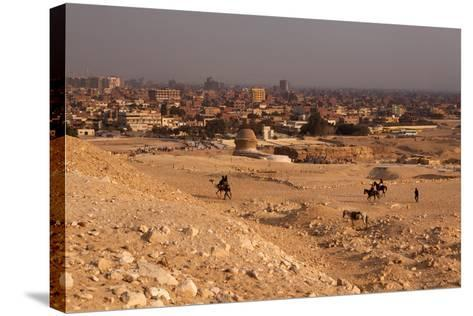 Egypt, Cairo, Giza, Evening Light-Catharina Lux-Stretched Canvas Print