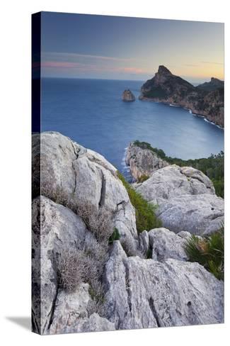 Spain, Majorca, Formentor Peninsula, Rock, the Mediterranean Sea-Rainer Mirau-Stretched Canvas Print