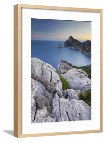 Spain, Majorca, Formentor Peninsula, Rock, the Mediterranean Sea-Rainer Mirau-Framed Art Print