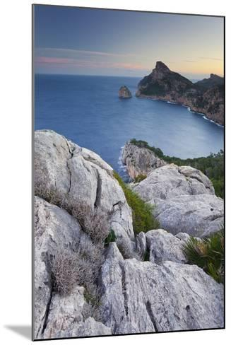 Spain, Majorca, Formentor Peninsula, Rock, the Mediterranean Sea-Rainer Mirau-Mounted Photographic Print