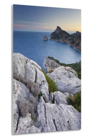 Spain, Majorca, Formentor Peninsula, Rock, the Mediterranean Sea-Rainer Mirau-Metal Print