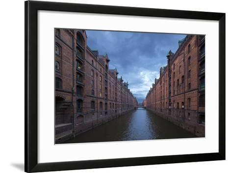 Hamburg, Speicherstadt, Brooksfleet, Evening Mood-Catharina Lux-Framed Art Print