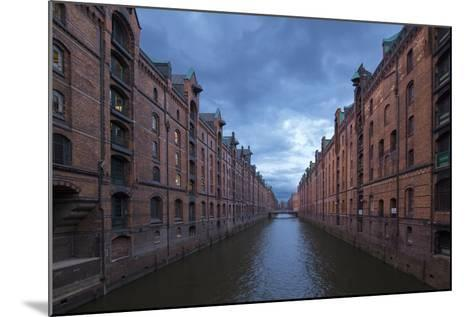 Hamburg, Speicherstadt, Brooksfleet, Evening Mood-Catharina Lux-Mounted Photographic Print