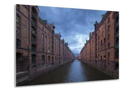 Hamburg, Speicherstadt, Brooksfleet, Evening Mood-Catharina Lux-Metal Print