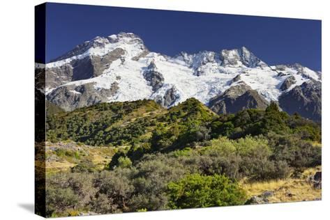 Mount Sefton, Mount Cook National Park, Canterbury, South Island, New Zealand-Rainer Mirau-Stretched Canvas Print