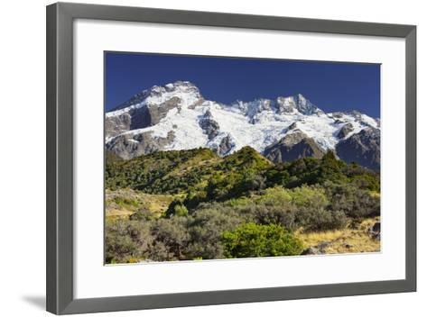 Mount Sefton, Mount Cook National Park, Canterbury, South Island, New Zealand-Rainer Mirau-Framed Art Print