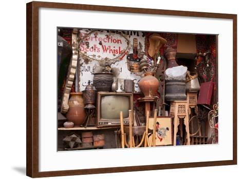 Egypt, Cairo, Islamic Old Town, Shop, Junk-Catharina Lux-Framed Art Print