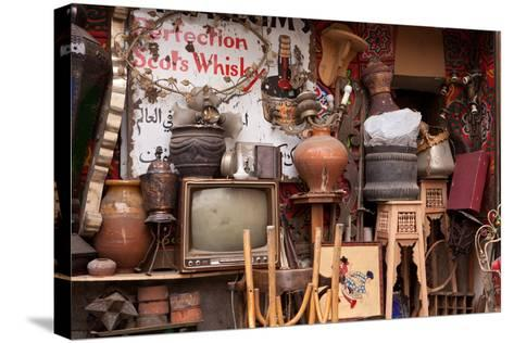 Egypt, Cairo, Islamic Old Town, Shop, Junk-Catharina Lux-Stretched Canvas Print