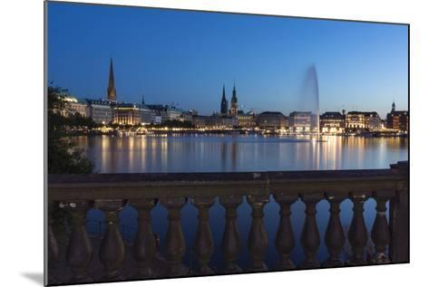 Hamburg, the Inner Alster, Dusk-Catharina Lux-Mounted Photographic Print