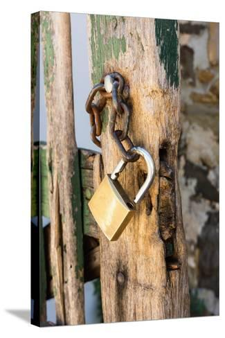 Gate, Padlock-Catharina Lux-Stretched Canvas Print