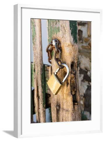Gate, Padlock-Catharina Lux-Framed Art Print