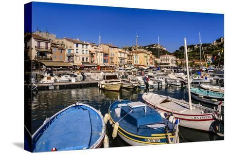 France, Provence, Bouches-Du-Rh™ne, Riviera, Cassis, Harbour-Udo Siebig-Stretched Canvas Print