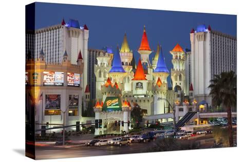 Excalibur Hotel, Strip, South Las Vegas Boulevard, Las Vegas, Nevada, Usa-Rainer Mirau-Stretched Canvas Print