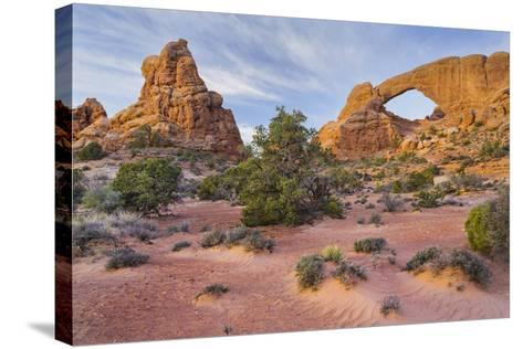 South Window, the Windows Section, Arches National Park, Utah, Usa-Rainer Mirau-Stretched Canvas Print