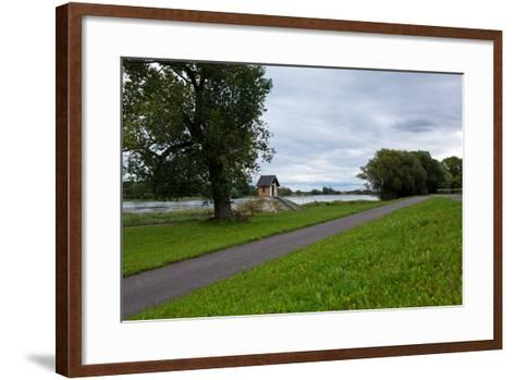 Germany, Brandenburg, Oder-Neisse Cycle Route, Ratzdorf, Water Level Hut-Catharina Lux-Framed Art Print
