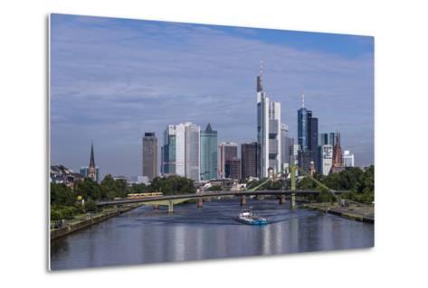 Germany, Hessen, View from DeutschherrnbrŸcke on Main-Udo Siebig-Metal Print