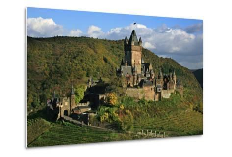 Autumn Day at the Imperial Castle Near Cochem on the Moselle-Uwe Steffens-Metal Print