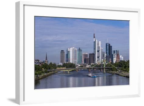 Germany, Hessen, View from DeutschherrnbrŸcke on Main-Udo Siebig-Framed Art Print
