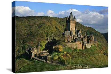 Autumn Day at the Imperial Castle Near Cochem on the Moselle-Uwe Steffens-Stretched Canvas Print