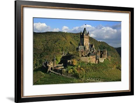 Autumn Day at the Imperial Castle Near Cochem on the Moselle-Uwe Steffens-Framed Art Print