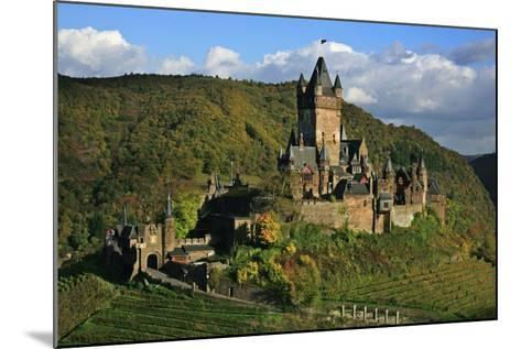 Autumn Day at the Imperial Castle Near Cochem on the Moselle-Uwe Steffens-Mounted Photographic Print