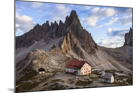 Europe, Italy, South Tyrol, the Dolomites, Tre Cime Di Lavaredo, Paternkofel, Dreizinnenh?tte-Gerhard Wild-Mounted Photographic Print