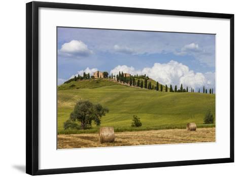 Europe, Italy, Tuscany, Landscape in Le Crete-Gerhard Wild-Framed Art Print