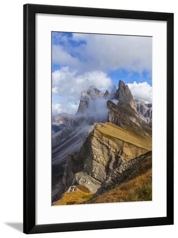 Europe, Italy, the Dolomites, South Tyrol, Seceda, Geisler Group-Gerhard Wild-Framed Art Print