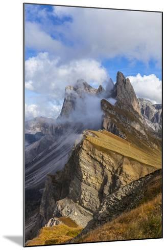 Europe, Italy, the Dolomites, South Tyrol, Seceda, Geisler Group-Gerhard Wild-Mounted Photographic Print