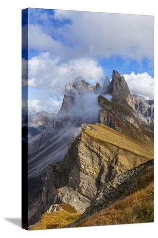 Europe, Italy, the Dolomites, South Tyrol, Seceda, Geisler Group-Gerhard Wild-Stretched Canvas Print