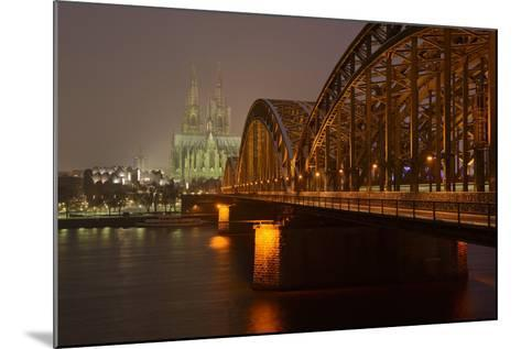 Germany, North Rhine-Westphalia, View from the Rhine from the Deutz Rhine Banks-Andreas Keil-Mounted Photographic Print