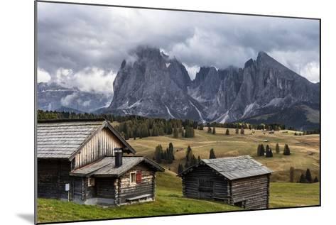 Europe, Italy, the Dolomites, South Tyrol, Seiseralm, Langkofel and Plattkofel, Alpine Huts-Gerhard Wild-Mounted Photographic Print