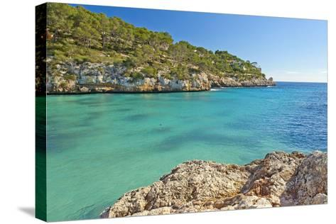 Europe, Spain, Majorca, Cliff-Lined Bay Platja D'Or-Chris Seba-Stretched Canvas Print