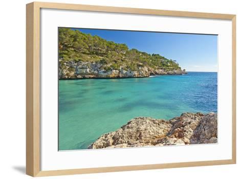 Europe, Spain, Majorca, Cliff-Lined Bay Platja D'Or-Chris Seba-Framed Art Print