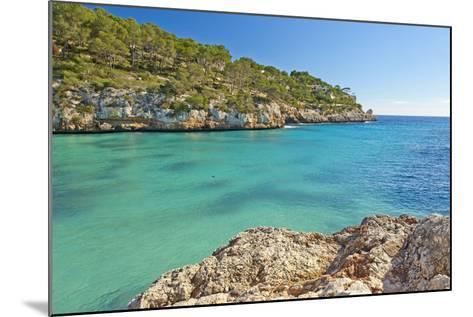 Europe, Spain, Majorca, Cliff-Lined Bay Platja D'Or-Chris Seba-Mounted Photographic Print