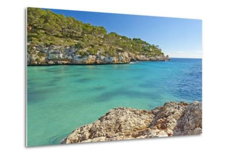 Europe, Spain, Majorca, Cliff-Lined Bay Platja D'Or-Chris Seba-Metal Print