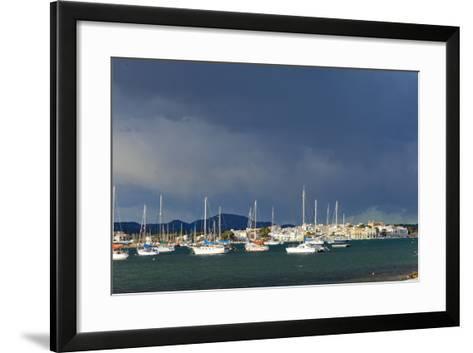 Europe, Spain, Majorca, Fishing Village Porto Colom, Harbour-Chris Seba-Framed Art Print