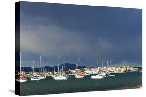 Europe, Spain, Majorca, Fishing Village Porto Colom, Harbour-Chris Seba-Stretched Canvas Print