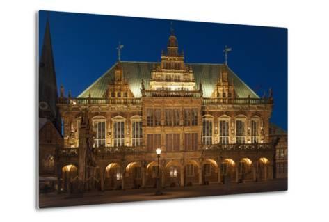 City Hall, Rathausplatz, Bremen, Germany, Europe-Chris Seba-Metal Print