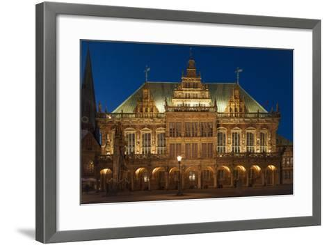 City Hall, Rathausplatz, Bremen, Germany, Europe-Chris Seba-Framed Art Print