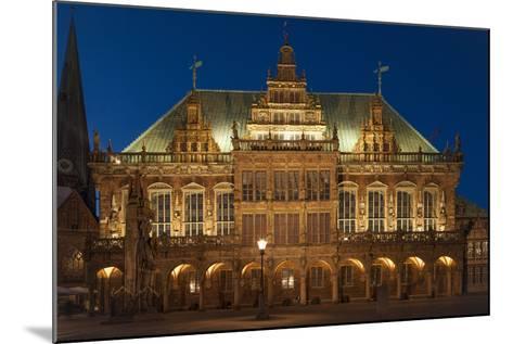 City Hall, Rathausplatz, Bremen, Germany, Europe-Chris Seba-Mounted Photographic Print