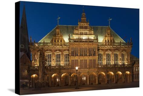 City Hall, Rathausplatz, Bremen, Germany, Europe-Chris Seba-Stretched Canvas Print