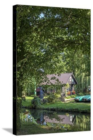 Europe, Germany, Brandenburg, Spreewald, L?bben, Harbour 'Hafen 2', Harbour House-Chris Seba-Stretched Canvas Print