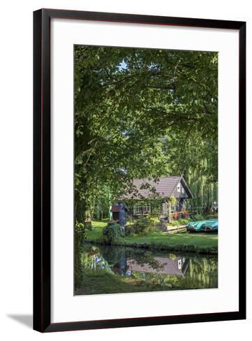 Europe, Germany, Brandenburg, Spreewald, L?bben, Harbour 'Hafen 2', Harbour House-Chris Seba-Framed Art Print