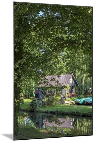 Europe, Germany, Brandenburg, Spreewald, L?bben, Harbour 'Hafen 2', Harbour House-Chris Seba-Mounted Photographic Print