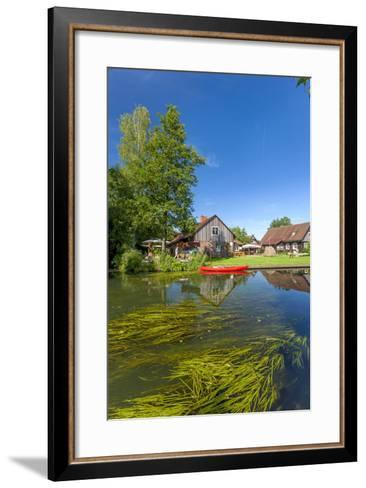 Europe, Germany, Brandenburg, Spreewald (Spree Forest), Canal, Leipe, Canoe-Chris Seba-Framed Art Print