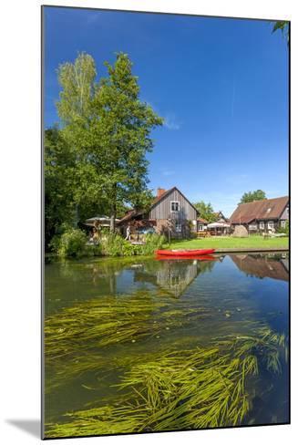 Europe, Germany, Brandenburg, Spreewald (Spree Forest), Canal, Leipe, Canoe-Chris Seba-Mounted Photographic Print