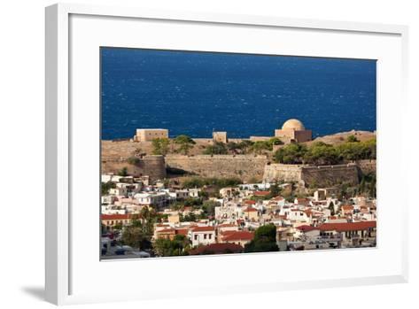 Greece, Crete, Rethimnon, Fortezza, Distant View-Catharina Lux-Framed Art Print